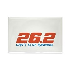 26.2 Can't Stop Running Rectangle Magnet