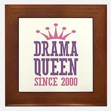 Drama Queen Since 2000 Framed Tile