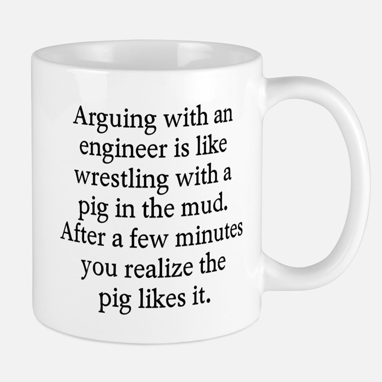 Arguing engineer Mug