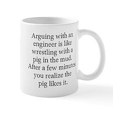 Arguing engineer Small Mugs