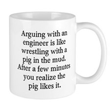 Arguing engineer Small Mugs