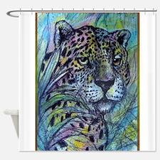 Jaguar, wildlife art Shower Curtain
