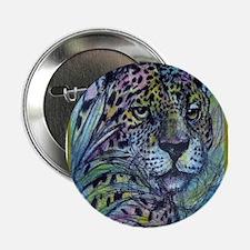 "Jaguar, wildlife art 2.25"" Button (100 pack)"