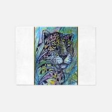 Jaguar, wildlife art 5'x7'Area Rug