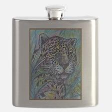 Jaguar, wildlife art Flask