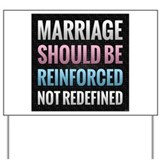 Traditional marriage Yard Signs
