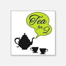 tea for two, tea pot and cups Sticker