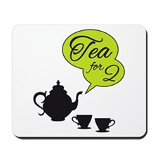 tea for two, tea pot and cups Mousepad