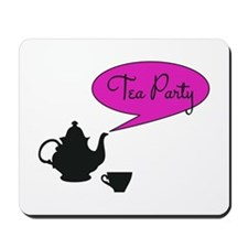 tea party with vintage tea pot and cup Mousepad