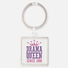 Drama Queen Since 1998 Square Keychain