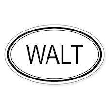 Walt Oval Design Oval Decal