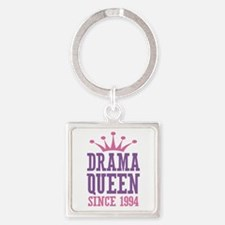 Drama Queen Since 1994 Square Keychain