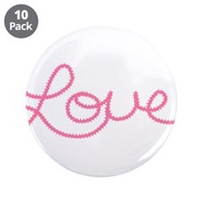 """Love in Pink 3.5"""" Button (10 pack)"""