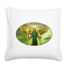 Archangel Raphael Square Canvas Pillow