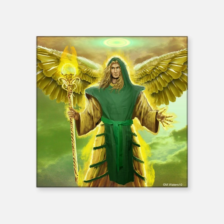 "Archangel Raphael Square Sticker 3"" x 3"""