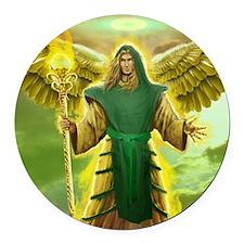 Archangel Raphael Round Car Magnet