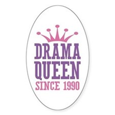 Drama Queen Since 1990 Decal