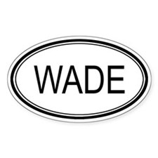 Wade Oval Design Oval Decal