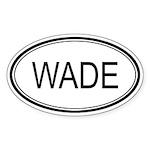 Wade Oval Design Oval Sticker
