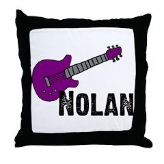 Nolan - Guitar - Purple Throw Pillow