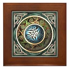 Celtic Knotwork Design Framed Tile