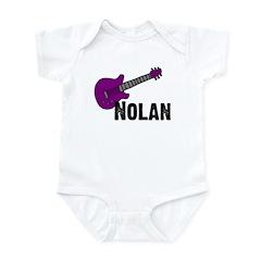 Nolan - Guitar - Purple Infant Bodysuit