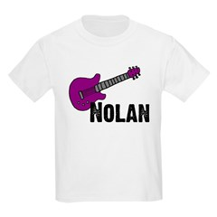 Nolan - Guitar - Purple Kids T-Shirt