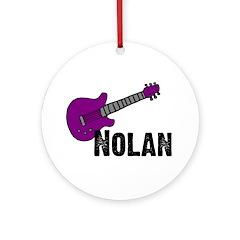 Nolan - Guitar - Purple Ornament (Round)