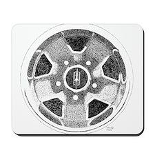 Olds Rallye Wheel pointillism Mousepad