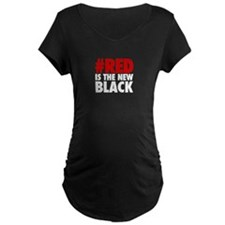 Red Is The New Black - BOLD Maternity T-Shirt