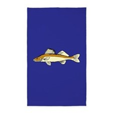 Navy blue fish 3'x5' Area Rug