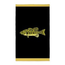 Gold and black fish 3'x5' Area Rug