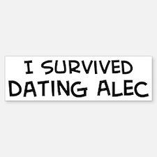 Survived Dating Alec Bumper Bumper Bumper Sticker