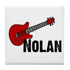 Nolan - Guitar Tile Coaster