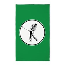 Green golfer 3'x5' Area Rug