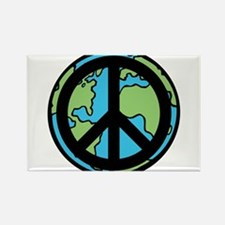 Peace on Earth in Black Rectangle Magnet