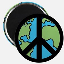 """Peace on Earth in Black 2.25"""" Magnet (10 pack)"""