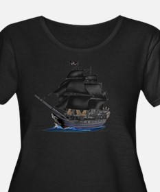 PIRATE SHIP Plus Size T-Shirt