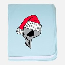 Christmas Skull baby blanket