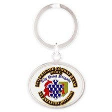 Army - 1st Infantry Div - 1st BCT Oval Keychain