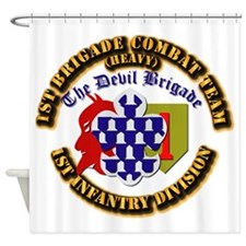 Army - 1st Infantry Div - 1st BCT Shower Curtain