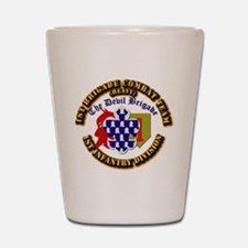 Army - 1st Infantry Div - 1st BCT Shot Glass