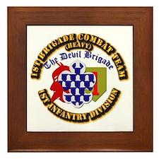 Army - 1st Infantry Div - 1st BCT Framed Tile