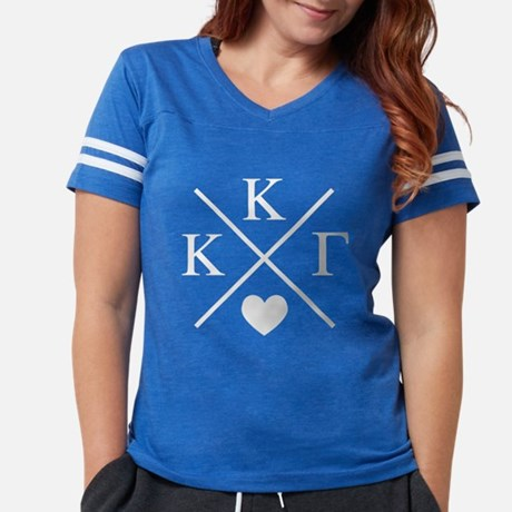 Kappa Kappa Gamma Cross Women's Football T-shirt