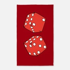 Red dice 3'x5' Area Rug