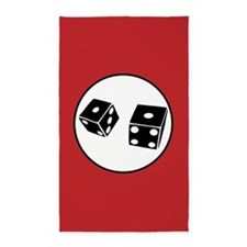 Black dice red 3'x5' Area Rug