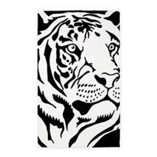 Black and white Tiger 3'x5' Area Rug