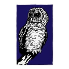 Owl Navy Blue 3'x5' Area Rug