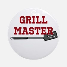 Grill Master Spatula in Red Ornament (Round)