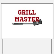 Grill Master Spatula in Red Yard Sign